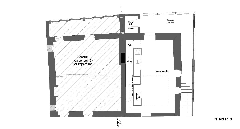 Atelier RK/Pignon sur l'eau/Montignac/Plan du premier étage
