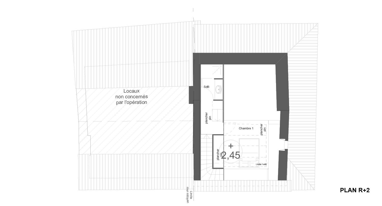 Atelier RK/Pignon sur l'eau/Montignac/Plan du deuxième étage