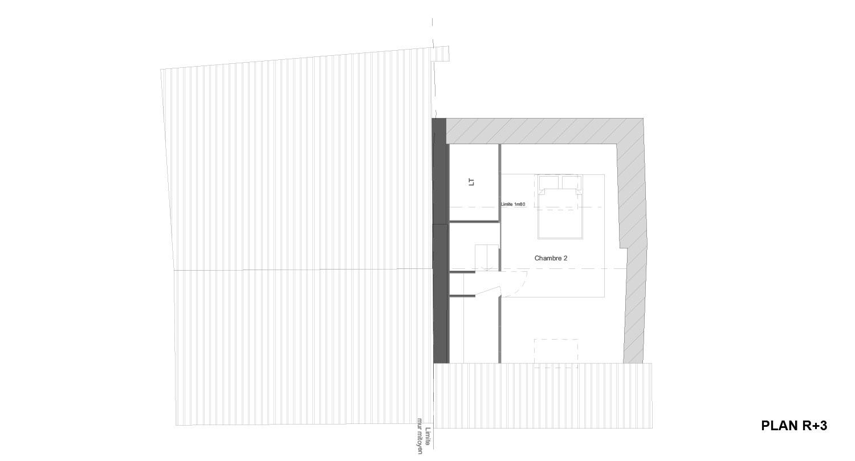 Atelier RK/Pignon sur l'eau/Montignac/Plan du troisième étage