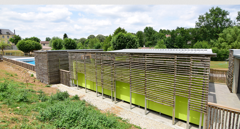 piscine municipale d 39 azerat dordogne architecte jean. Black Bedroom Furniture Sets. Home Design Ideas